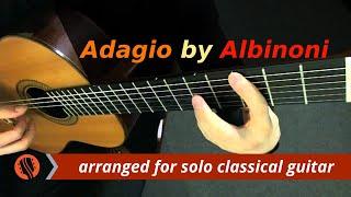 Albinoni - Adagio in G Minor (Guitar Transcription in D minor)