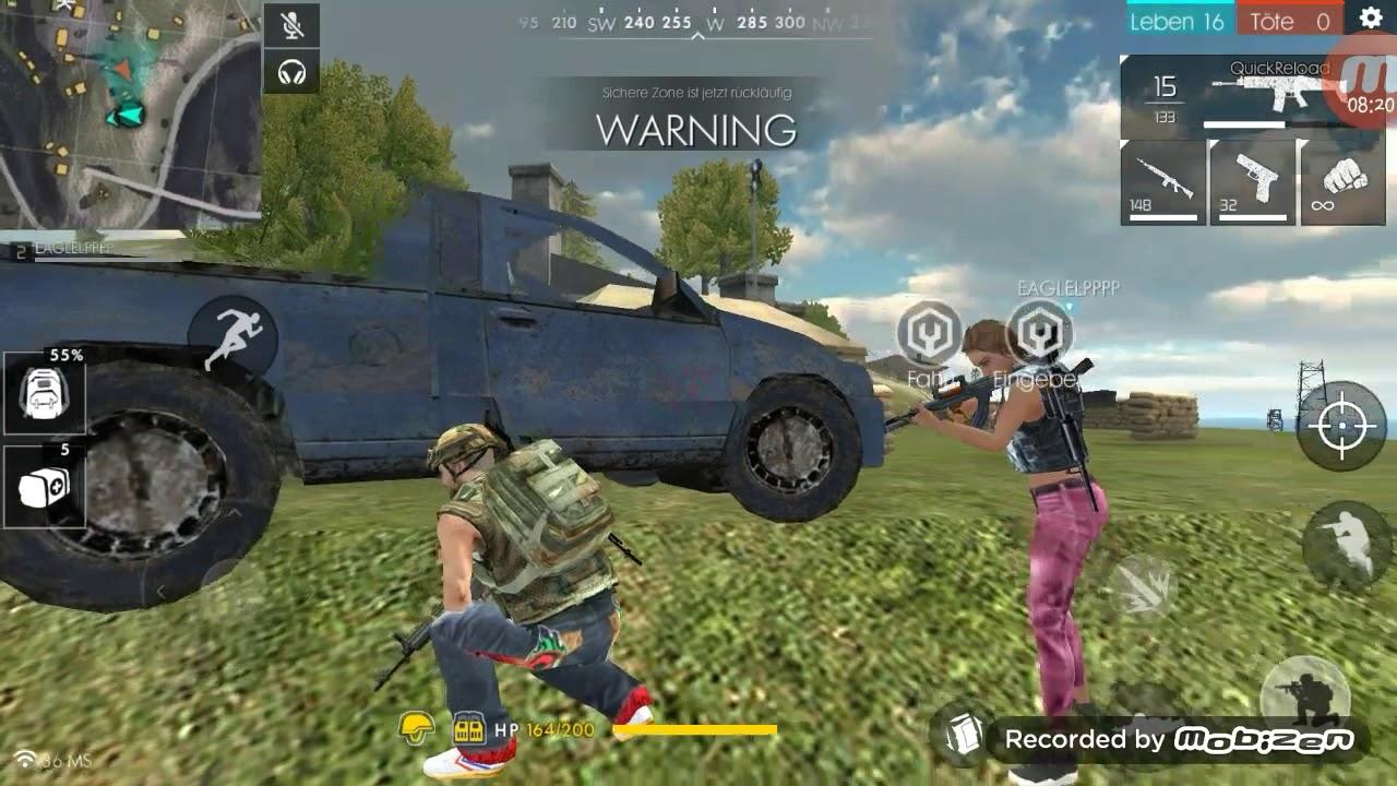 Mindestens 100 km mit dem Auto gefahren FreeFire Battlegrounds lets Play 1/2