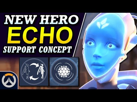 Overwatch - New Hero ECHO Support Concept | Abilities & Full Hero Kit