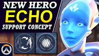 Overwatch - New Hero ECHO Support Concept   Abilities & Full Hero Kit