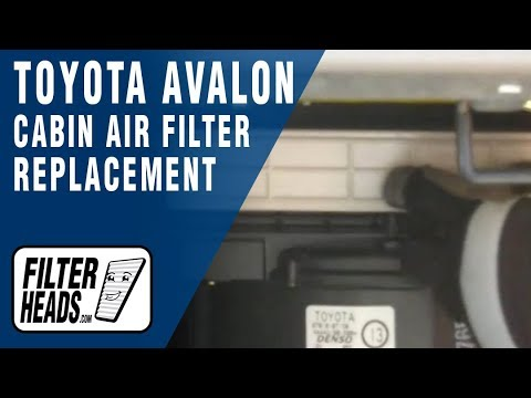 How To Replace Cabin Air Filter Toyota Avalon 2000 2004 Youtube