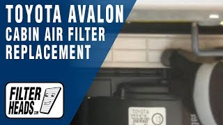 Cabin Air Filter Replacement- Toyota Avalon 2000-2004