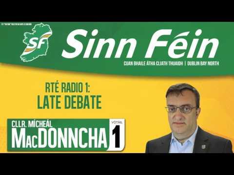 Late Debate - RTÉ Radio 1 with Mícheál Mac Donncha
