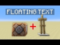 How to Easily Make Floating Text in Minecraft