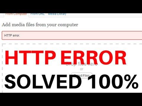 How to fix HTTP Error when uploading image in Wordpress