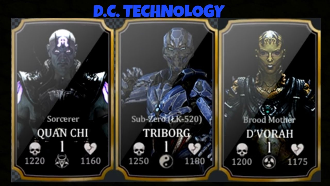 MKX MOBILE: CHARACTERS LEAKED FROM THE NEXT UPDATE ?!
