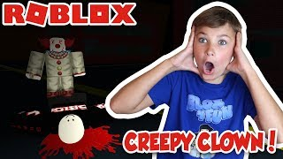 RUN FROM CREEPY DADDY CLOWN in ROBLOX SMILE X)