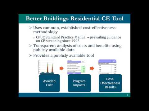 Webinar Apr. 4, 2017: Better Buildings Residential Efficiency Program Cost Effectiveness Tool