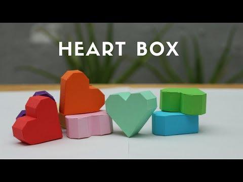 Paper Heart Box - paper heart| how to make heart box | let's craft ̣̣̣̣(Creative Paper Art)