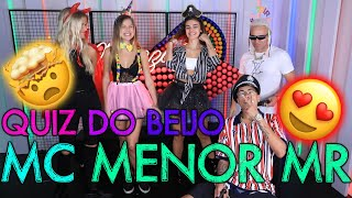 QUIZZ DO BEIJO COM MC MENOR MR!! | #MatheusMazzafera