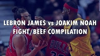 Repeat youtube video LEBRON JAMES vs. JOAKIM NOAH - Fight/Beef Compilation