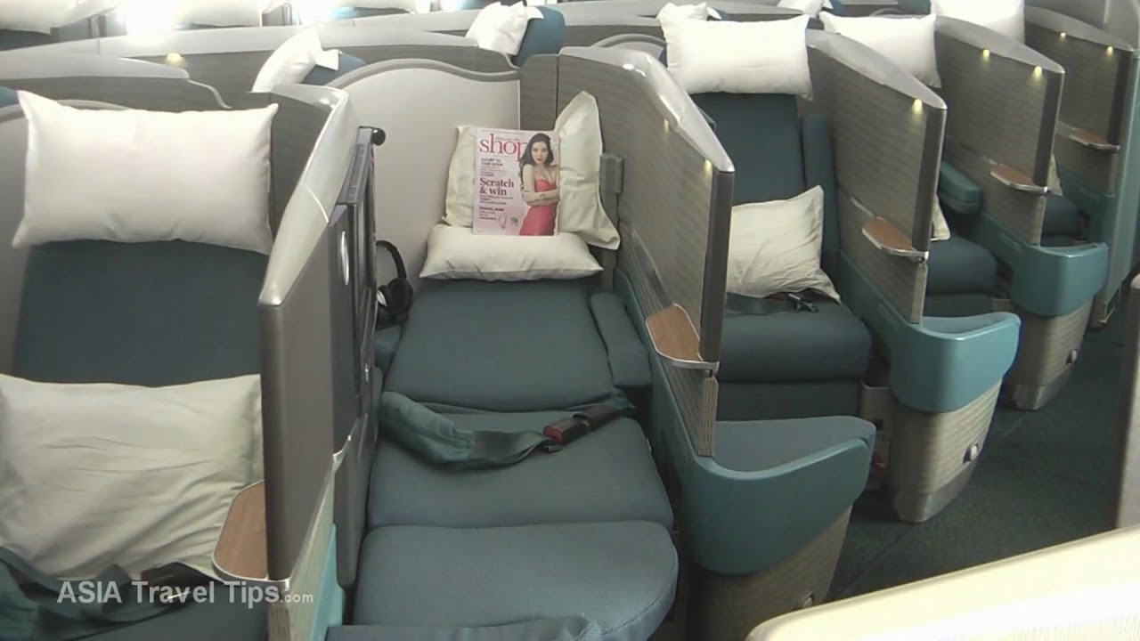 Cathay Pacific Boeing 777-300 ER Business Class - HD - YouTube