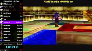 """Majora's Mask - """"All Masks"""" in 2:59:04 by GoronGuy w/ Live Commentary"""