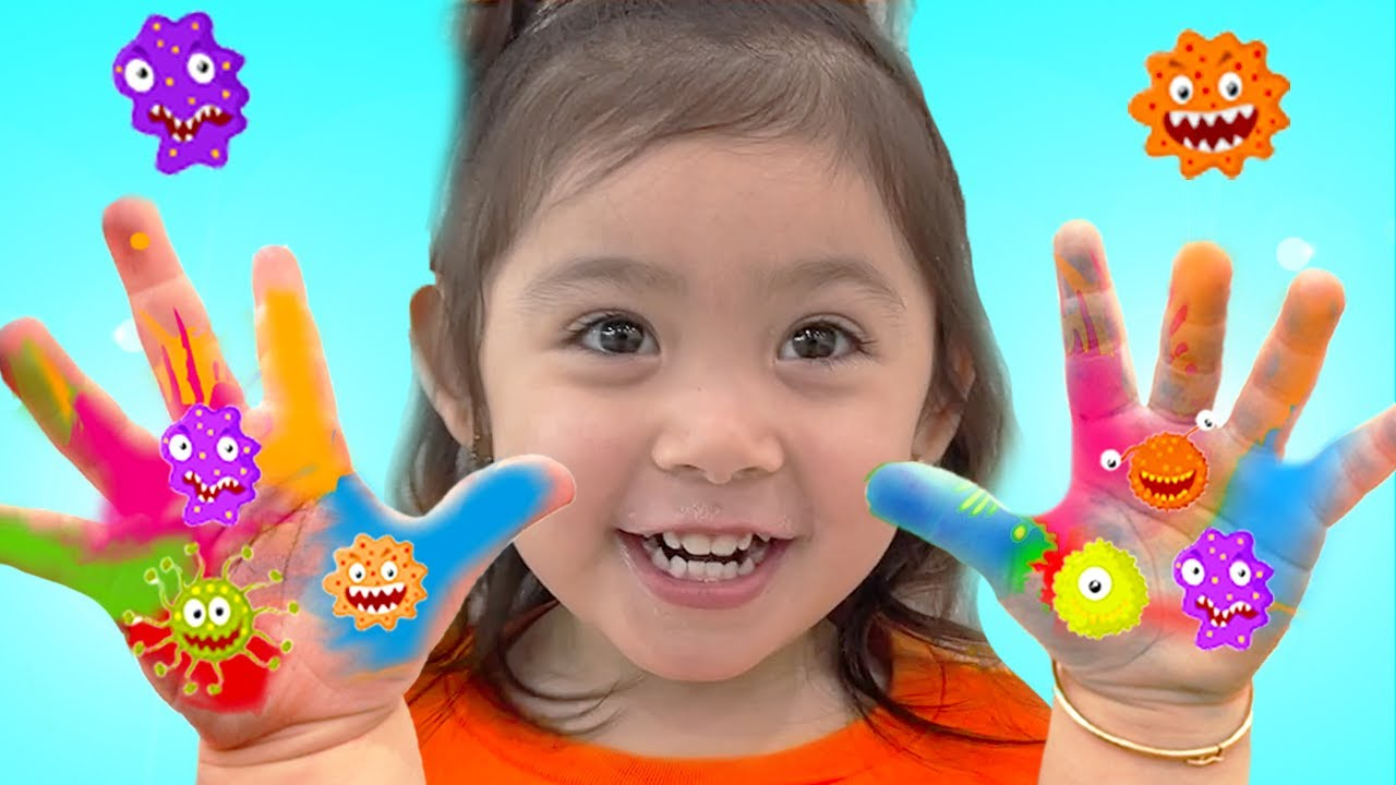 Maddie Wash Your Hands Kids Story Before Eating and After Playing with Toys | Washing Hands Story
