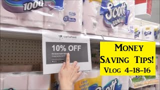 Vlog 4-18-16 Lots of Money Saving Tips/Gardening