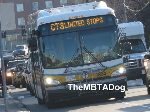 TheMBTADog: MBTA Bus CT3 Ride - AVENUE LOUIS PASTEUR & BETH ISRAEL to ANDREW [New Flyer Hybrid 1804]