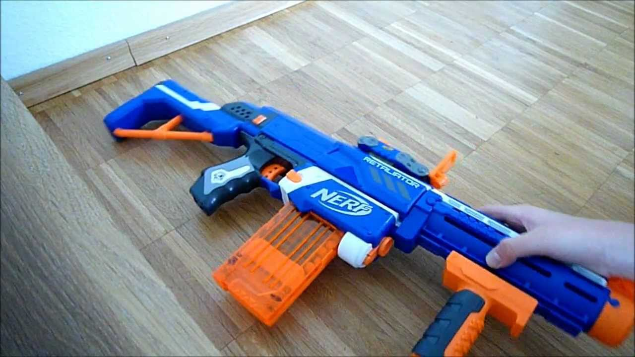 Deutsch nerf review retaliator nerf n strike elite youtube