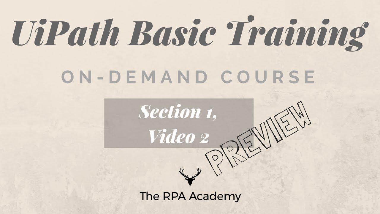UiPath Basics: On-Demand Training - UiPath Activities (PREVIEW)