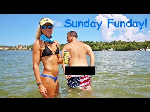 Florida Sandbar SUNDAY FUNDAY Vlog feat. DJI Drone
