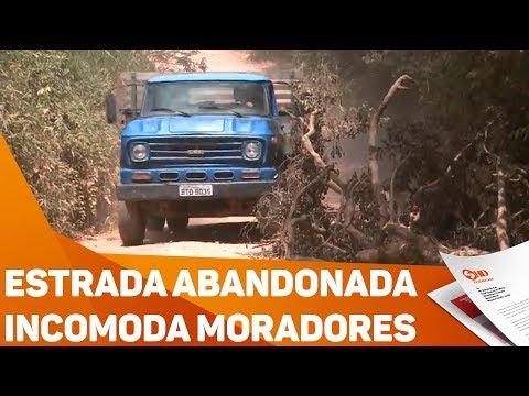 Estrada abandonada incomoda moradores - TV SOROCABA/SBT