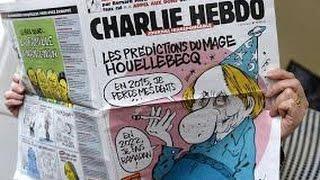 90 دقيقة : مجلة شارلي ابدو الفرنسية تنشر كاريكاتيرا للرسول (ص) تصوره باكيا علي ضحايا الإرهاب