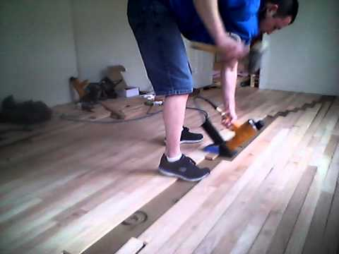 B1 Hardwood Floor Install Red Oak 2 14 Youtube