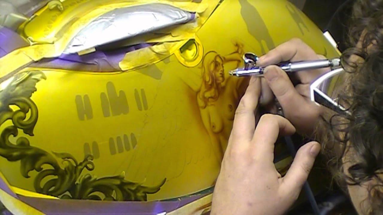 atelier meijer   motorcycle sidecase airbrush   youtube