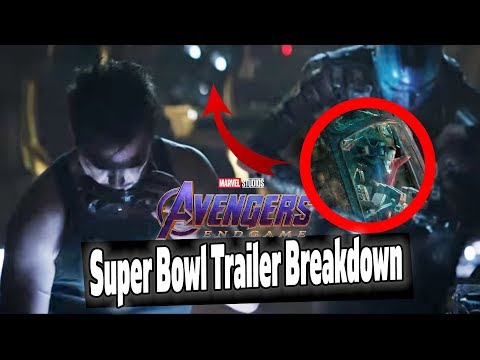 AVENGERS ENDGAME SUPER BOWL TRAILER REACTION & BREAKDOWN