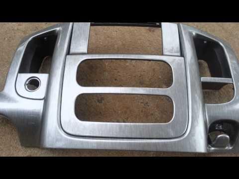 Dodge Ram Custom Double DIN Hydrographics Brushed Aluminum
