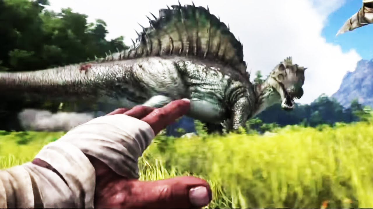 Ark Survival Evolved Gameplay Trailer Dinosaur Games