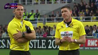 Shoulder hit, penalty try, yellow card, massive scuff. [Clermont vs Northampton '19]