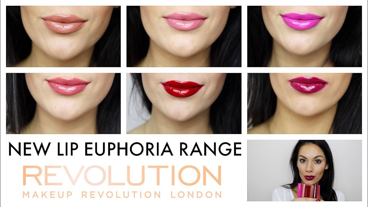 Makeup Revolution Lip Euphoria Range Try On And Swatch