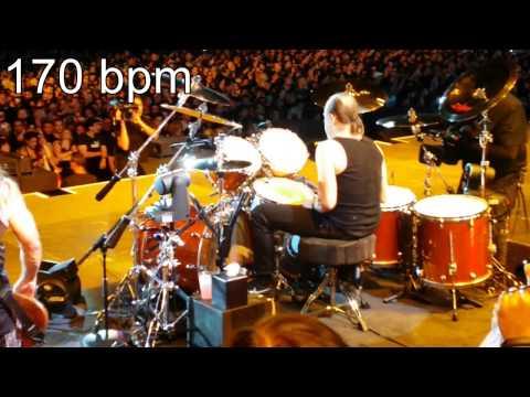 LARS ULRICH Metallica DOUBLE BASS DRUMMING (Milan 2015)