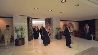 الأمير عبدالله بن بندر وزير الحرس الوطني يستقبل أمراء الأفراج ووكلائهم