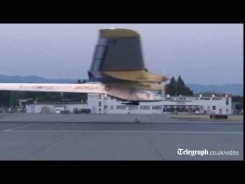 Solar plane begins journey across US