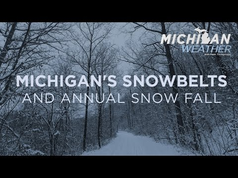 Michigan's Snowbelts and Annual Snow Fall