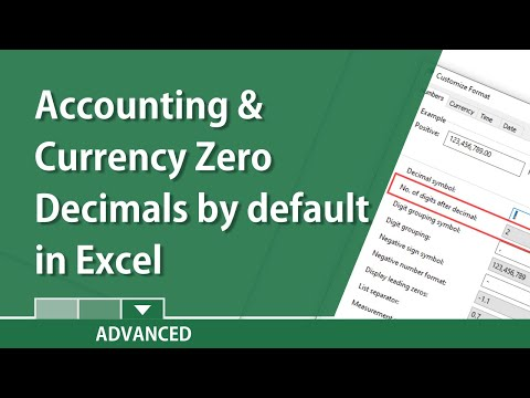 Excel - make Accounting and Currency zero decimal places by default by Chris Menard