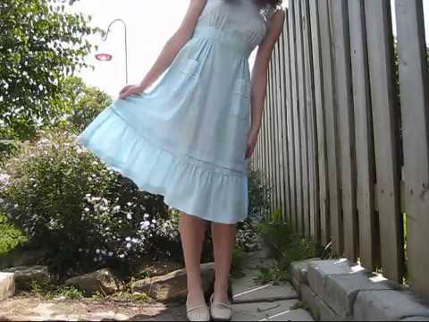 5e93b020b10 Late Summer Look    Picnic in the Garden Dress - YouTube