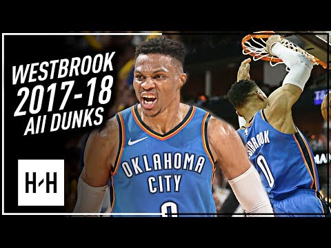Russell Westbrook ALL DUNKS from 2017-2018 NBA Season! EPIC Compilation!