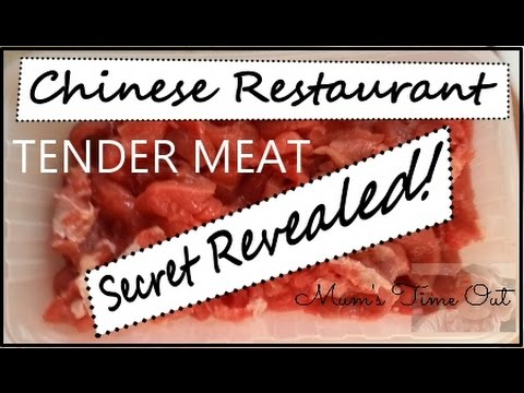 How To Make Meat Tender Soft Like Chinese Restaurant's Do Secret Revealed Beef, Chicken, Pork & Lamb