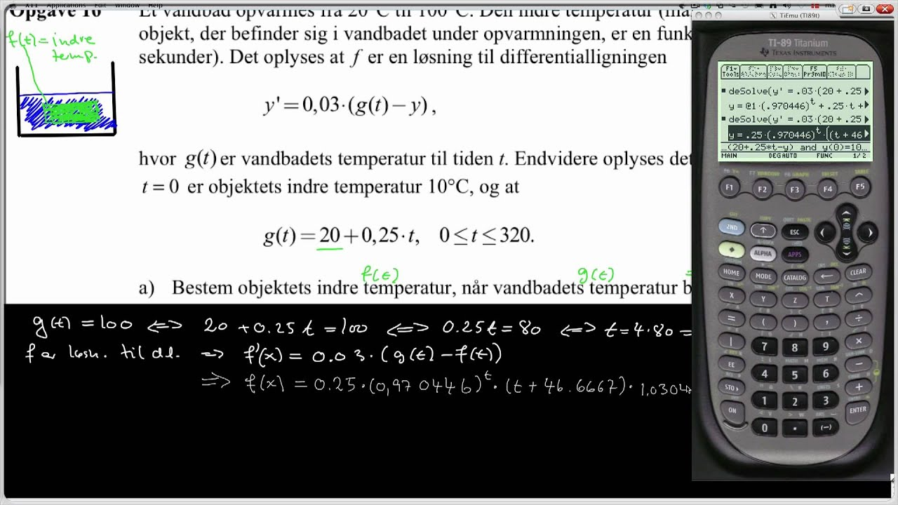 STX A 2009 Maj Opgave 16 - Differentialligning