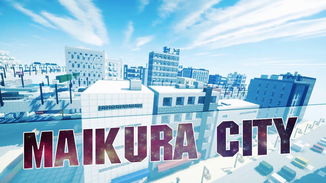 Minecraft City Of Maikura Cinematics Japanese Metropolis - Japan map minecraft