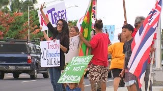 Rally Against Federal Recognition In Hilo (Sept. 23, 2016)
