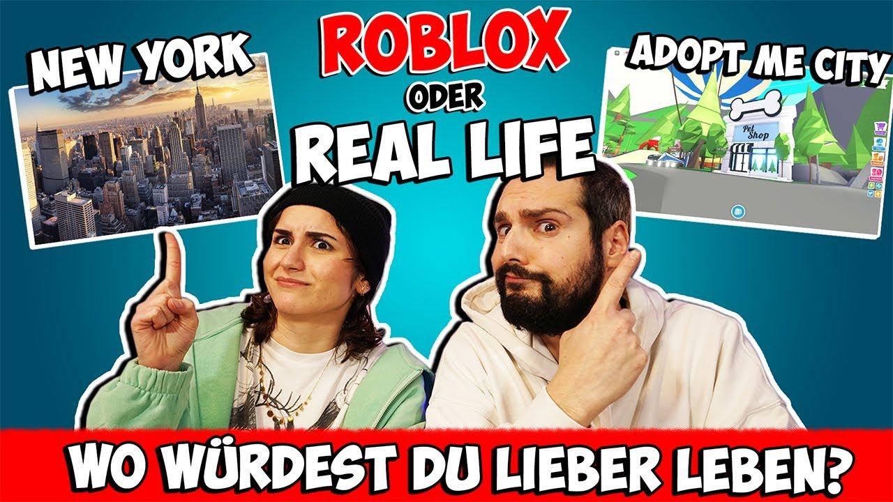 ROBLOX ODER REAL LIFE Challenge! Adopt Me City New York leben? Wofür würdest du dich entscheiden?