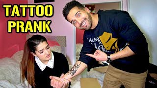 TATTOO PRANK on MY SISTER (Hilarious!!)