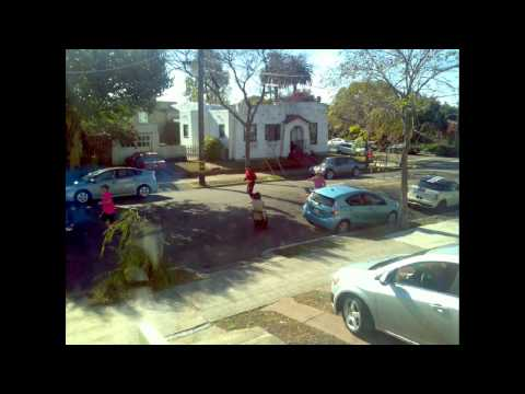 2014 Berkeley Half Marathon: at 11.8 miles time lapse showing left side of runners