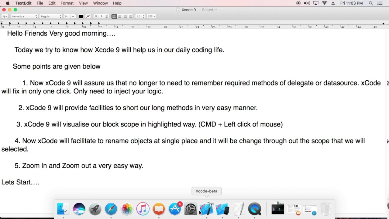 5 Unique features of xCode 9