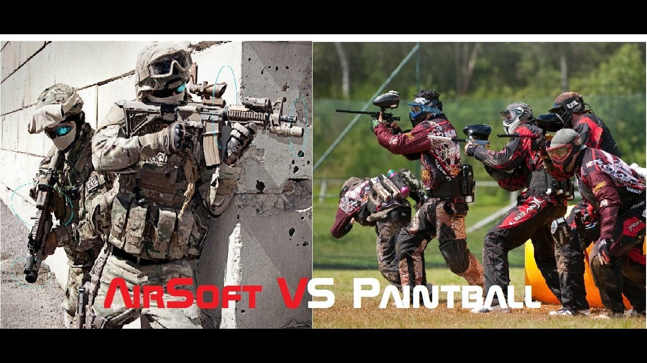 Paintball y airsoft diferencia
