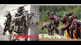 PAINTBALL VS AIRSOFT GUN