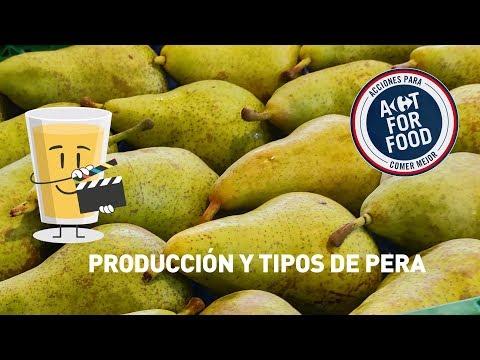Producción y tipos de pera